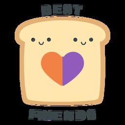 Tostadas mejores amigos