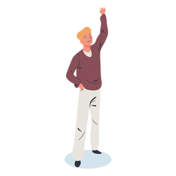 Blonde guy character isometric