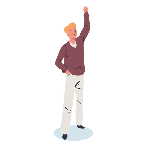 Blonde guy character isometric Transparent PNG