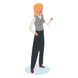 Blonde woman character isometric
