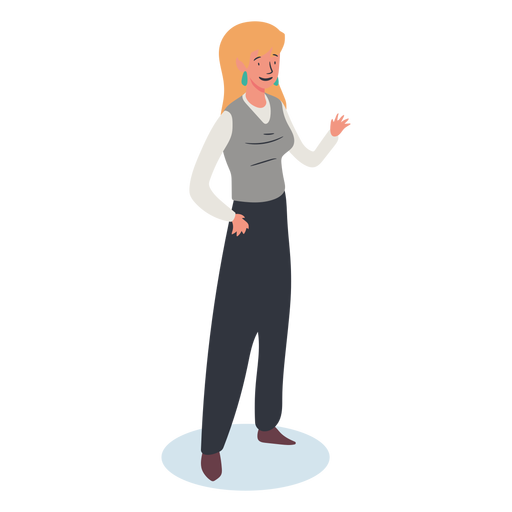 Blonde woman character isometric Transparent PNG