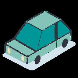 Blue car isometric