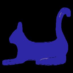 Dibujado a mano gato azul