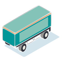 Blue container isometric
