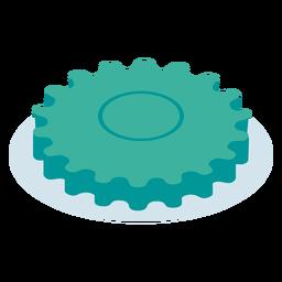 Isométrica de engranaje azul