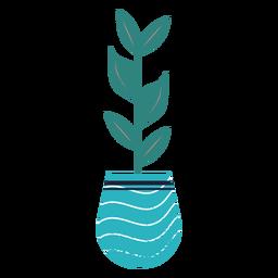 Planta de interior azul con textura