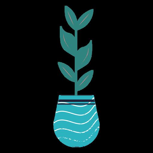 Planta de interior azul con textura Transparent PNG