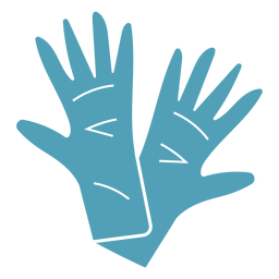 Blue medical gloves