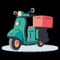 Entrega de scooter azul