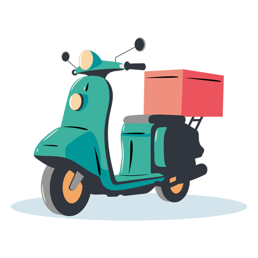 Blue scooter delivery Transparent PNG