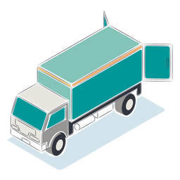 Blue truck isometric