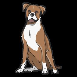 Ilustración de perro boxer