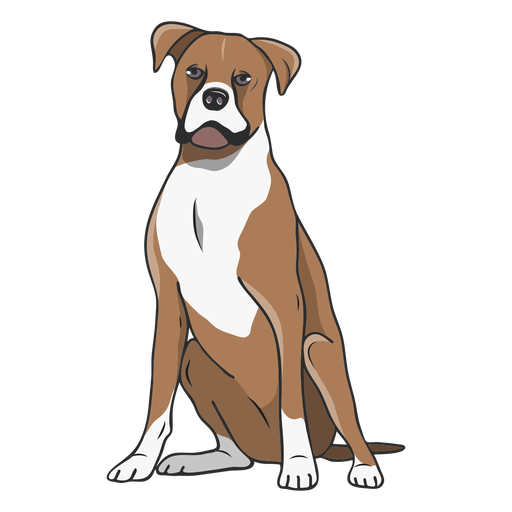 Ilustração do cão boxer