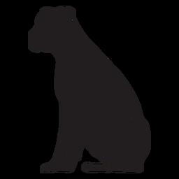 Perro boxer sentado negro