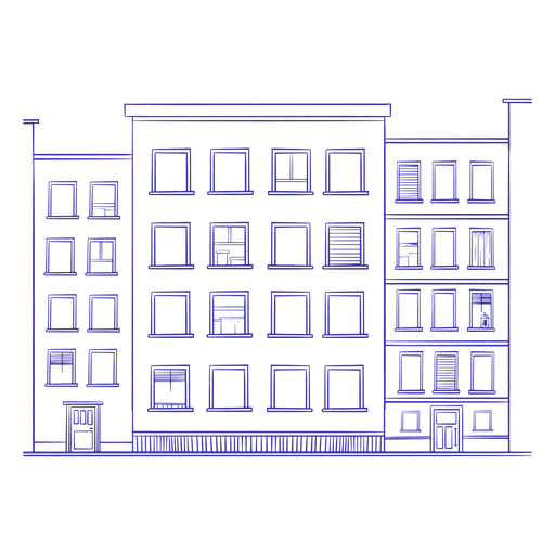 Building hand drawn Transparent PNG