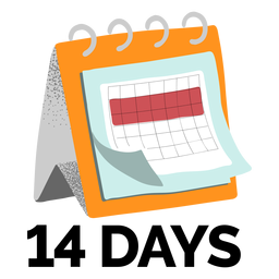 Calendario cuarentena texturizado