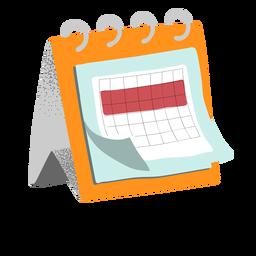 Quarentena do calendário texturizada