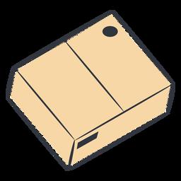 Cardboard box closed