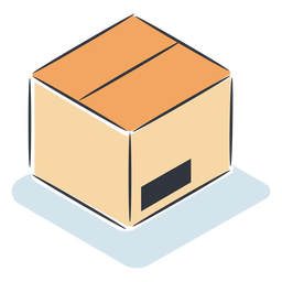 Caja de cartón isométrica