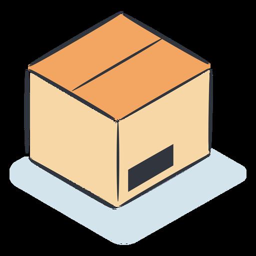 Cardboard box isometric Transparent PNG