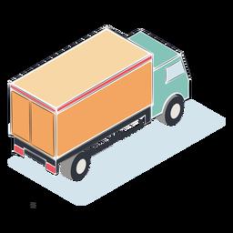 Camión de carga isométrico