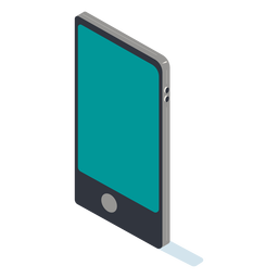 Isométrico del teléfono móvil