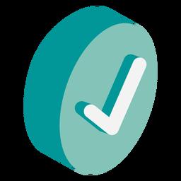 Icono de marca de verificación isométrica