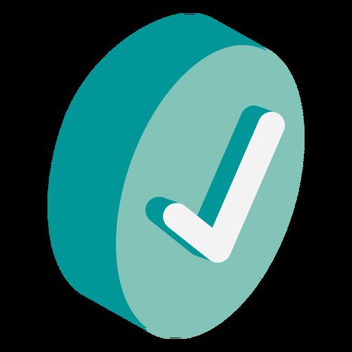 Check mark icon isometric