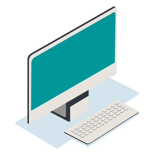 Computer isometric Transparent PNG