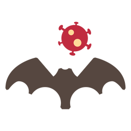 Coronavirus Fledermaus-Symbol