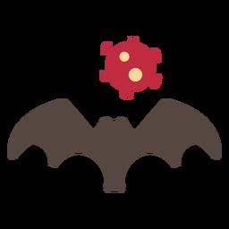 Icono de murciélago de coronavirus