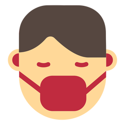 Coronavirus face mask icon