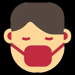 Icono de máscara facial de coronavirus