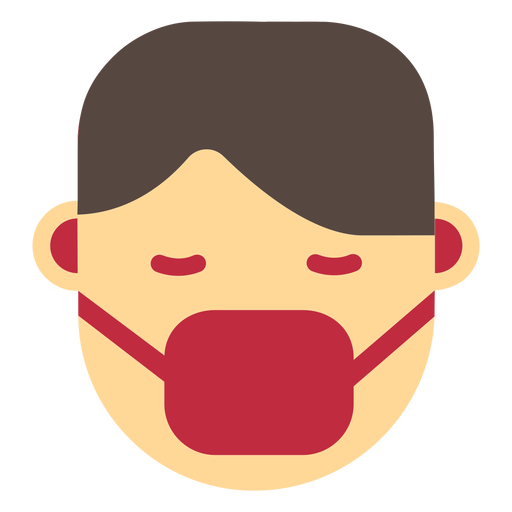 Coronavirus face mask icon