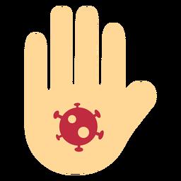 Icono de la mano de coronavirus