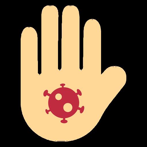 Icono de la mano de coronavirus Transparent PNG