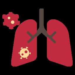 Icono de pulmones de coronavirus