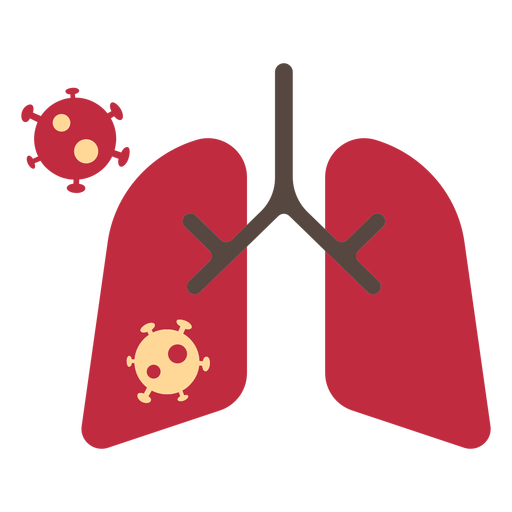 Coronavirus lungs icon