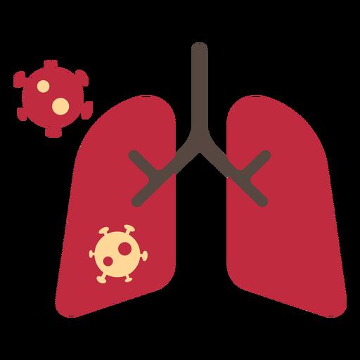 Icono de pulmones de coronavirus Transparent PNG