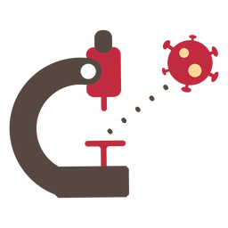 Coronavirus-Mikroskopsymbol