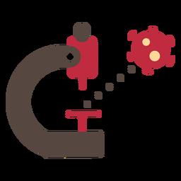 Icono de microscopio de coronavirus