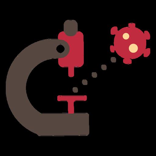 Coronavirus microscope icon