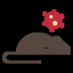 Coronavirus rat icon