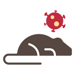 Ícone de rato de coronavírus