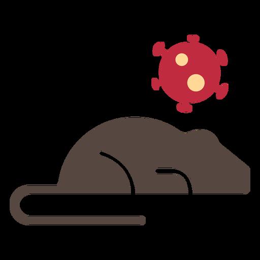 Icono de rata coronavirus Transparent PNG