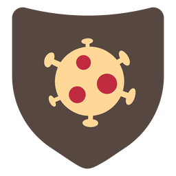 Coronavirus shield icon
