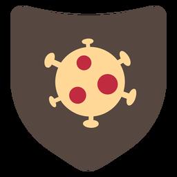 Icono de escudo de coronavirus