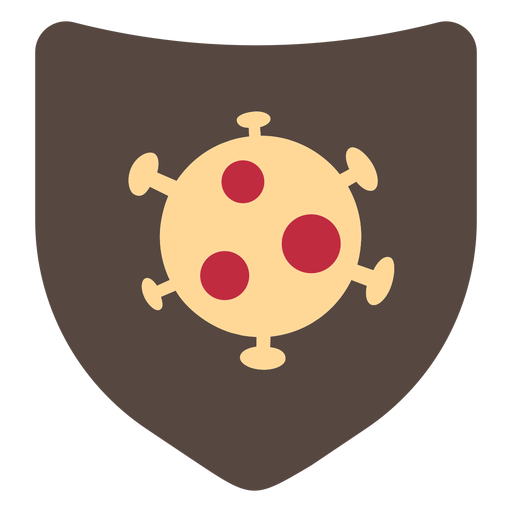 Coronavirus shield icon Transparent PNG