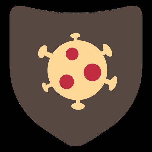 Icono de escudo de coronavirus Transparent PNG