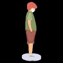 Covid19 personaje de chico